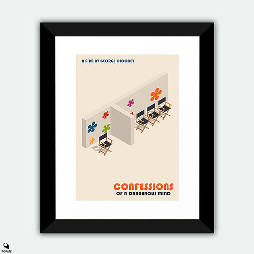 Confessions of A Dangerous Mind Minimalist Framed Print - The Dating Game