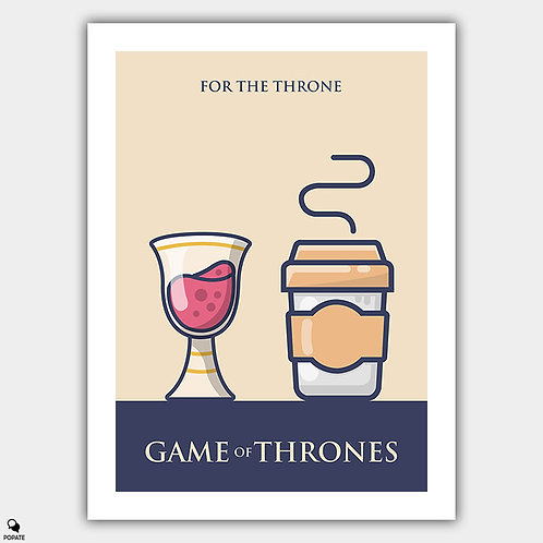 Game of Thrones Minimalist Poster - Long Live The Queen