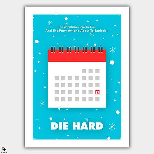 Die Hard Minimalist Poster - Christmas Eve