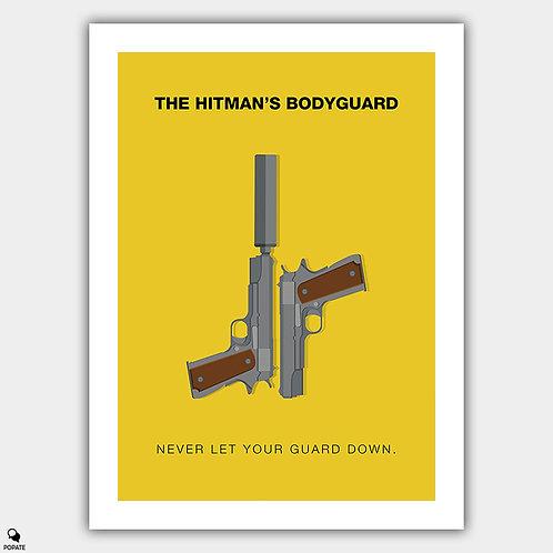 The Hitman's Bodyguard Minimalist Poster
