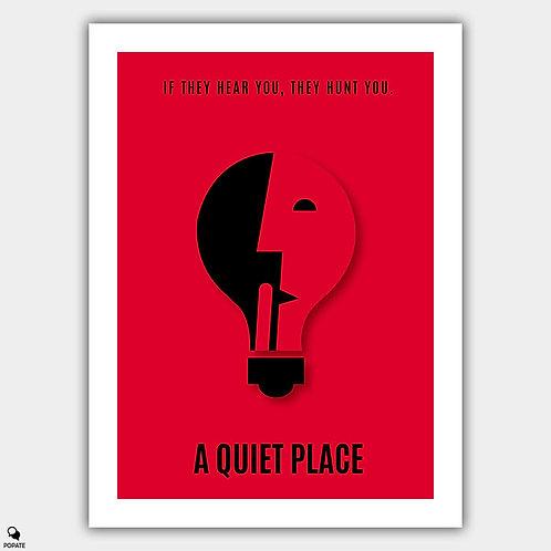 A Quiet Place Minimalist Poster - Shhh