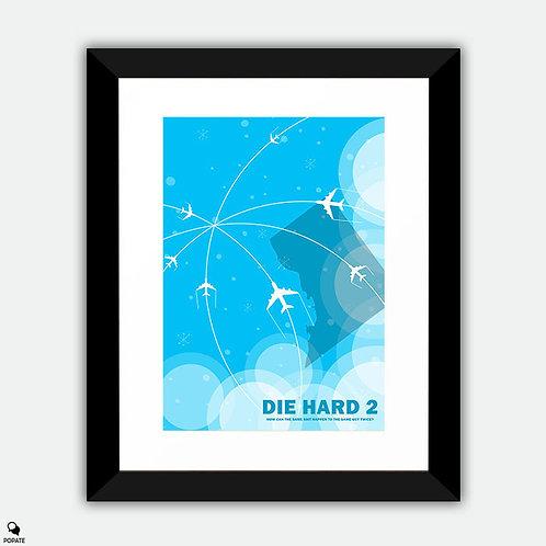 Die Hard 2 Minimalist Framed Print