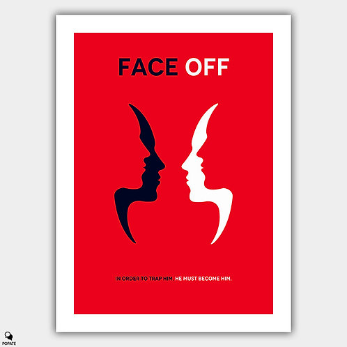 Face Off Minimalist Poster