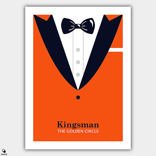 Kingsman: The Golden Circle Minimalist Poster - Suited