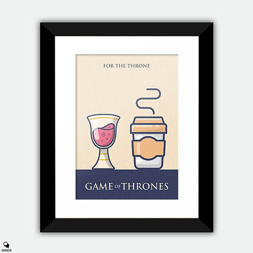 Game of Thrones Minimalist Framed Print - Long Live The Queen