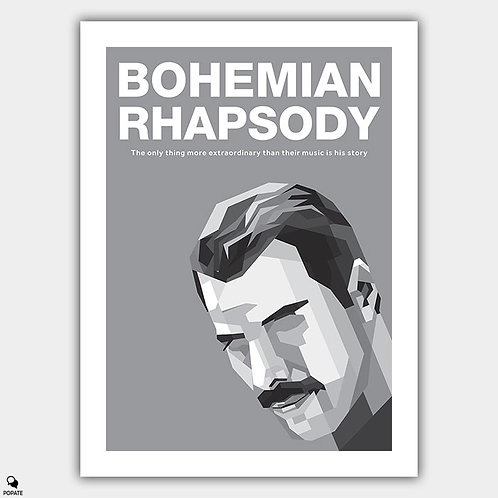 Bohemian Rhapsody Minimalist Poster - Freddie