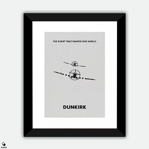 Dunkirk Minimalist Framed Print - Spitfire