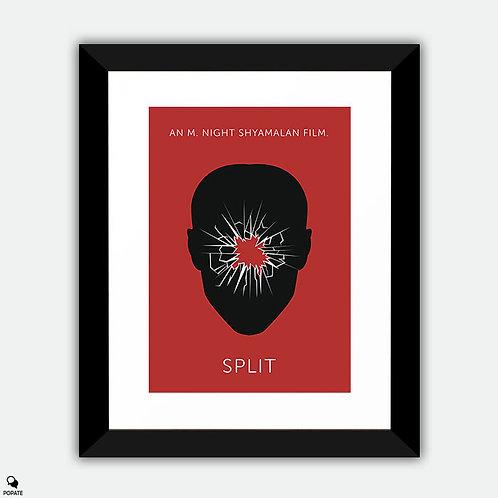 Split Minimalist Framed Print