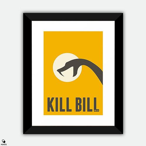 Kill Bill Minimalist Framed Print - Black Mamba