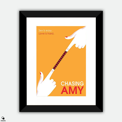 Chasing Amy Minimalist Framed Print