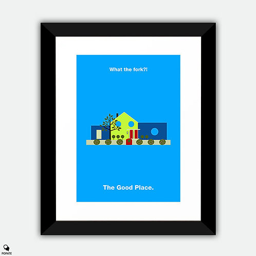 The Good Place Minimalist Framed Print