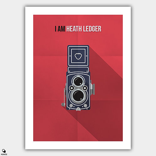 I Am Heath Ledger Minimalist Poster