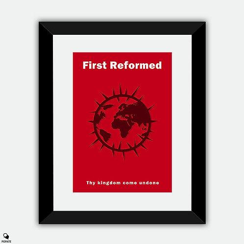 First Reformed Minimalist Framed Print