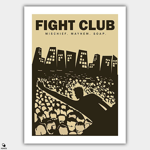 Fight Club Alternative Vintage Style Poster