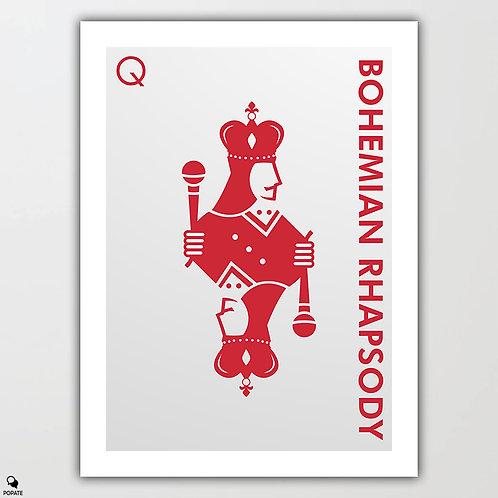 Bohemian Rhapsody Minimalist Poster - Queen