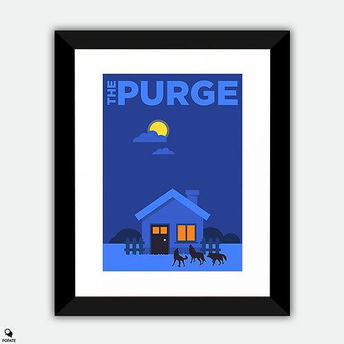 The Purge Alternative Minimalist Framed Print