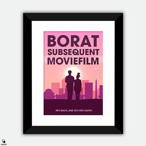 Borat Subsequent Moviefilm Minimalist Framed Print
