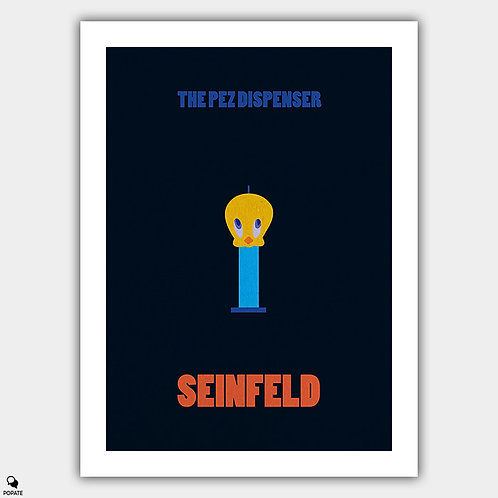 Seinfeld Minimalist Poster - The Pez Dispenser