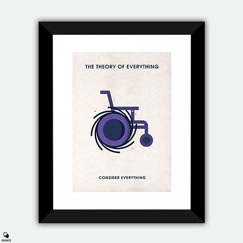 The Theory Of Everything Minimalist Framed Print - Black Hole