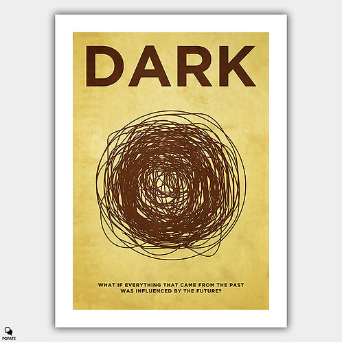Dark Vintage Poster - Black Hole
