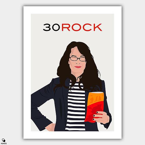 30 Rock Minimalist Poster - Liz Lemon