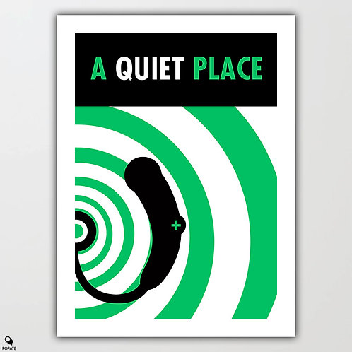 A Quiet Place Minimal Poster - Too Noisy