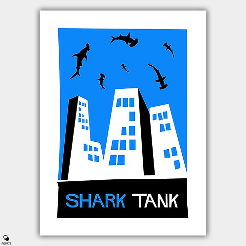 Shark Tank Saul Bass Style Alternative Poster