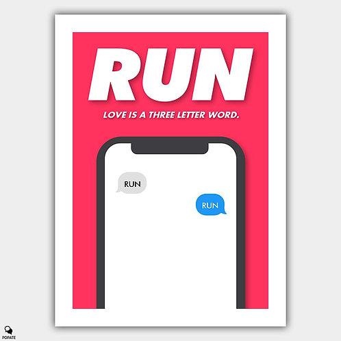 Run Minimalist Poster