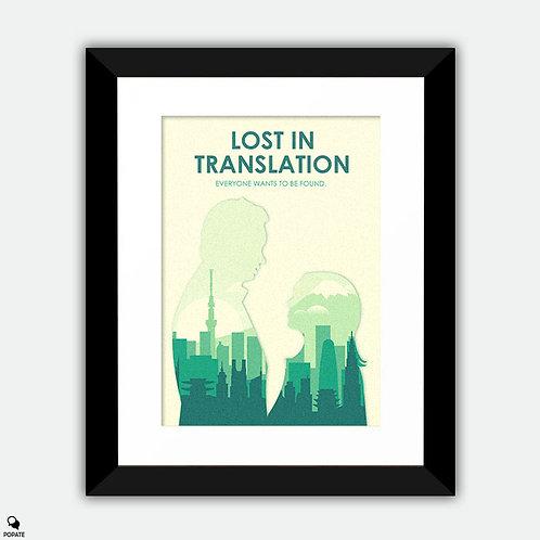 Lost in Translation Minimalist Framed Print