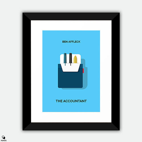 The Accountant Minimalist Framed Print - Pocket Protector