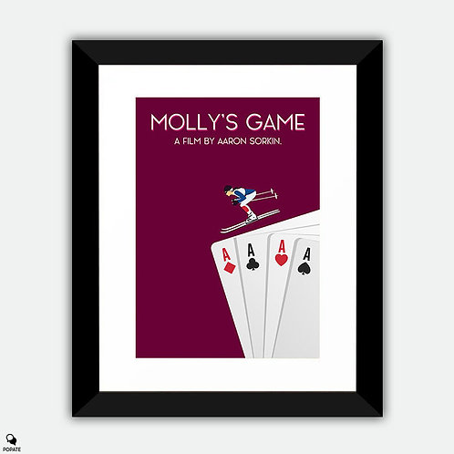 Molly's Game Minimalist Framed Print