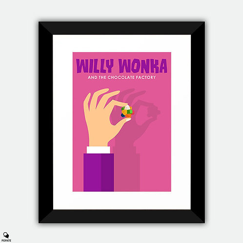 Willy Wonka and The Chocolate Factory Minimalist Framed Print