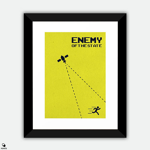 Enemy of The State Minimalist Framed Print
