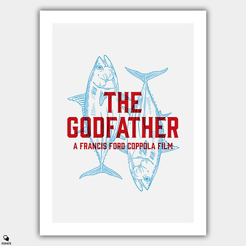 The Godfather Minimalist Poster - Sicilian Message