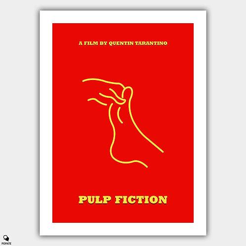 Pulp Fiction Minimalist Poster - Foot Massage