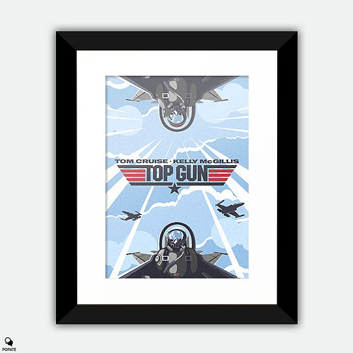 Top Gun Alternative Framed Print - Birdy