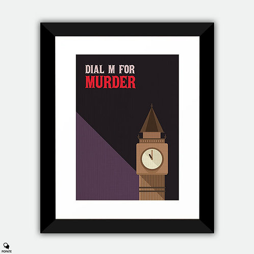 Dial M for Murder Vintage Framed Print
