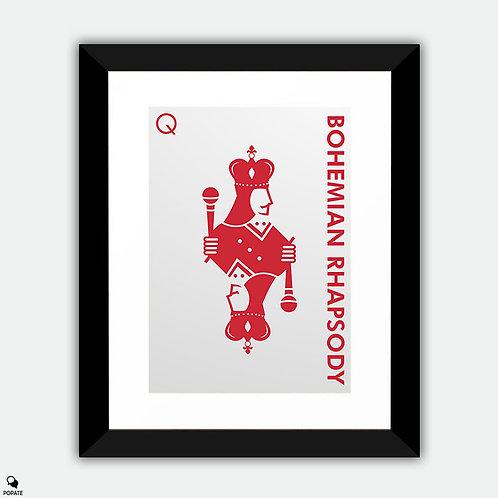 Bohemian Rhapsody Minimalist Framed Print - Queen
