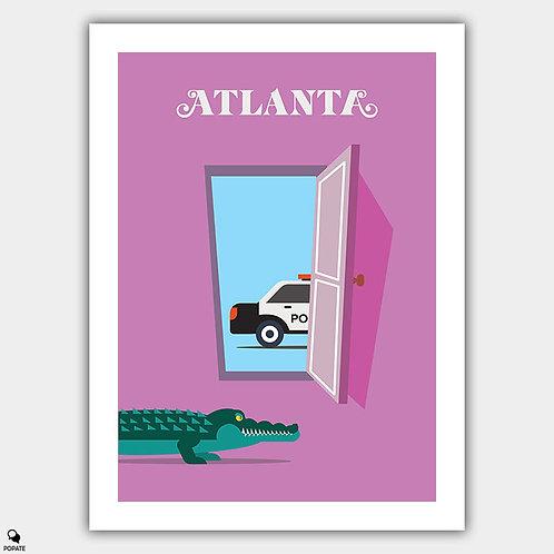 Atlanta Minimalist Poster - Alligator Man