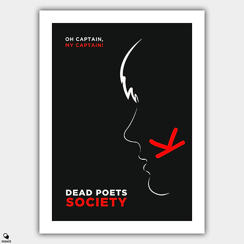 Dead Poets Society Minimalist Poster - Oh Captain!