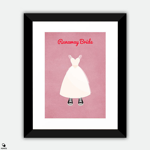 Runaway Bride Minimalist Framed Print