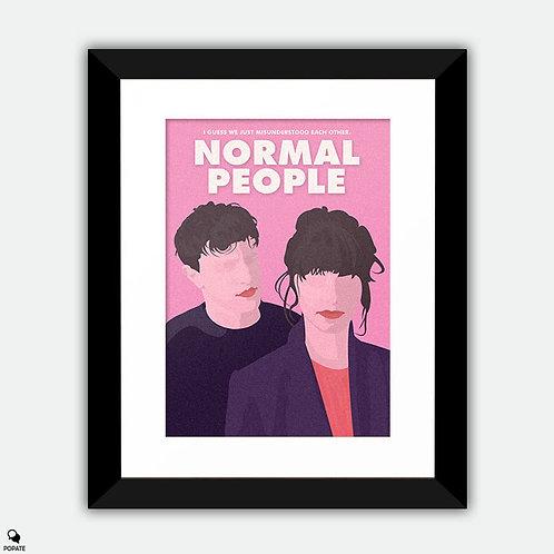 Normal People Alternative Framed Print - Misunderstood