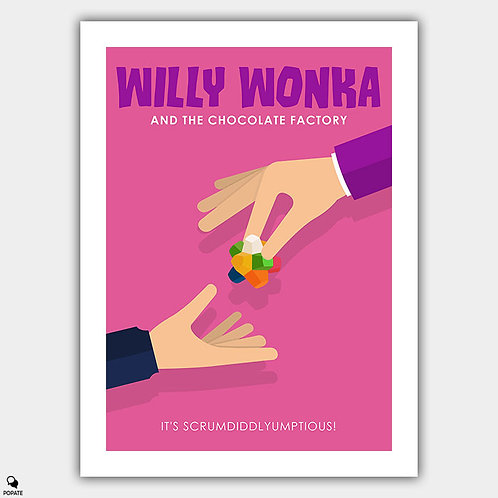 Willy Wonka and The Chocolate Factory Minimalist Poster - Gobstopper