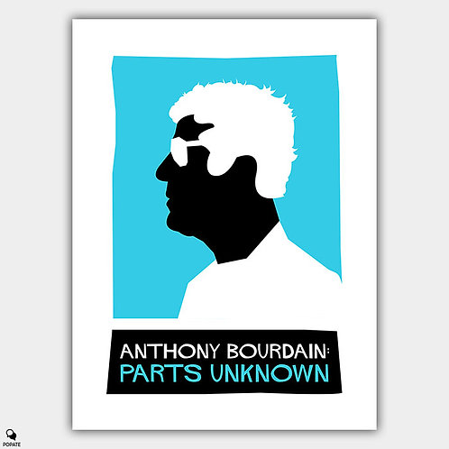 Anthony Bourdain: Parts Unknown Saul Bass Style Alternative Poster