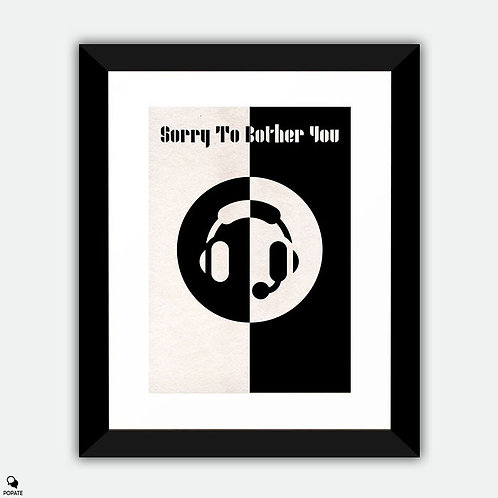 Sorry To Bother You Minimalist Bauhaus Framed Print