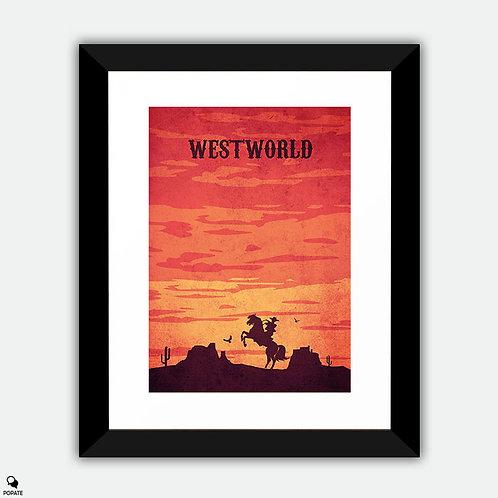 Westworld Vintage Framed Print