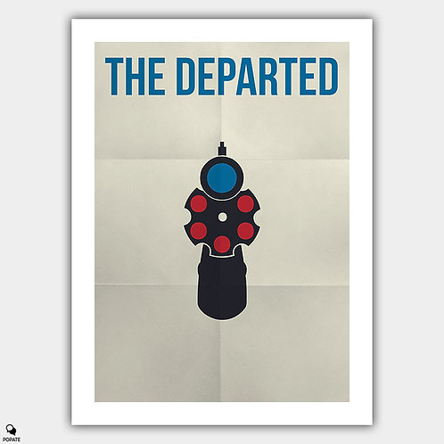 The Departed Minimalist Poster - Leonardo DiCaprio