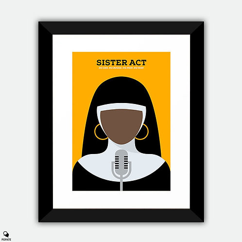 Sister Act Minimalist Framed Print
