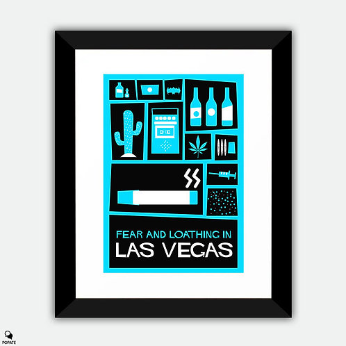 Fear and Loathing in Las Vegas Vintage Saul Bass Framed Print