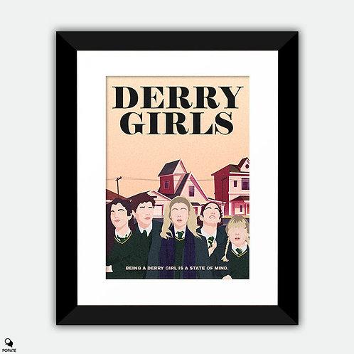 Derry Girls Minimalist Framed Print